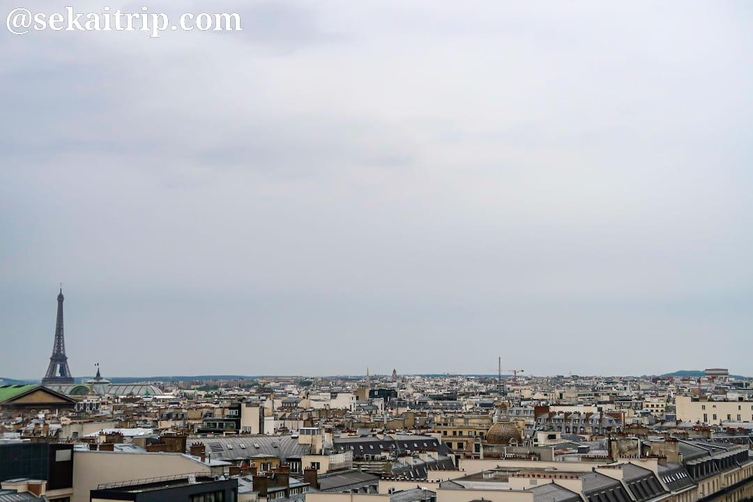 ギャラリー・ラファイエット・パリ・オスマン本店の屋上から見た景色