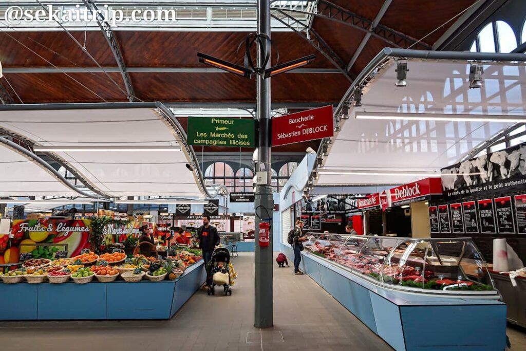 ワザンム市場(Marché Couvert de Wazemmes)の内部