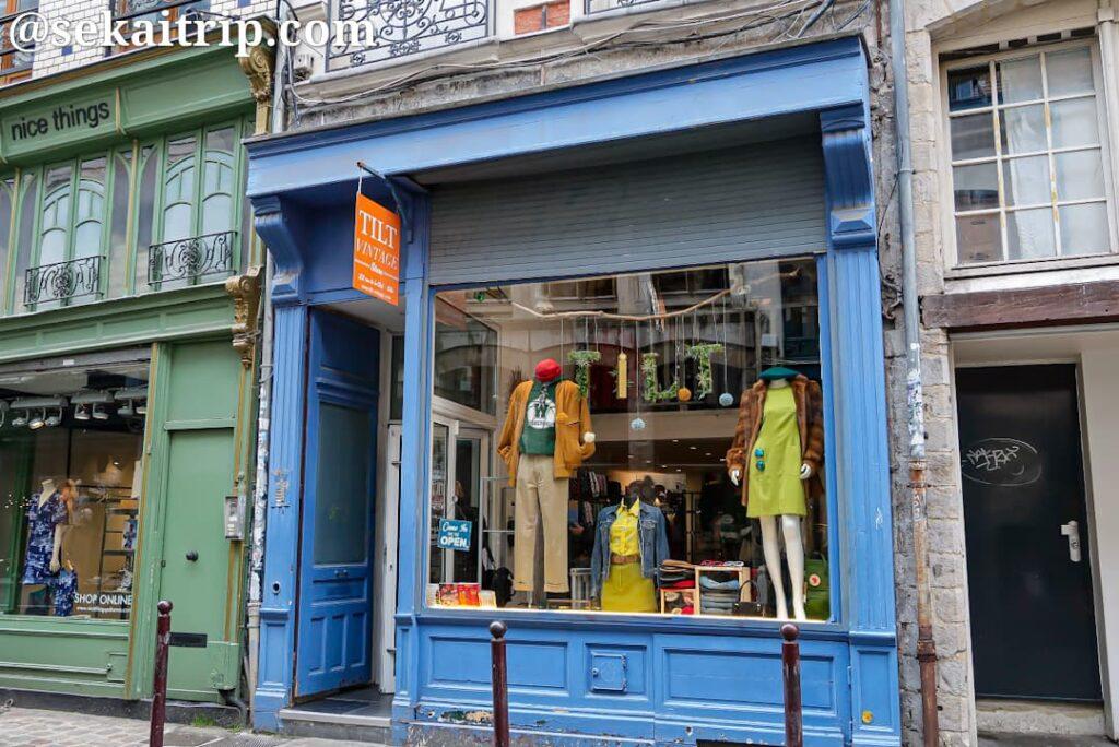クレ通り(Rue de la Clef)の古着屋さん