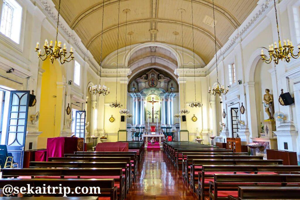 聖アントニオ教会(Igreja de Santo António)の内部