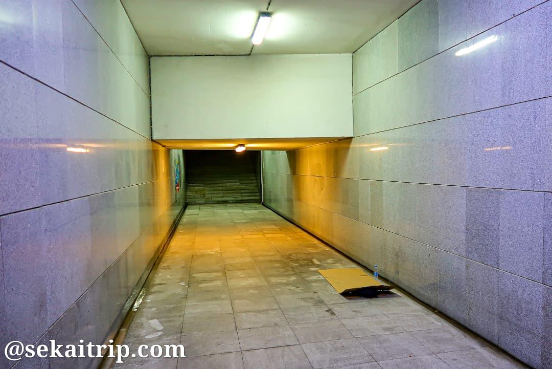 マカオにある地下通路