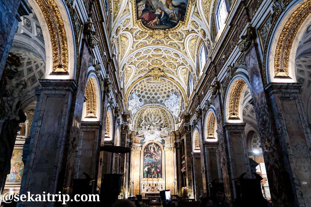 サン・ルイジ・デイ・フランチェージ教会(Chiesa di San Luigi dei Francesi)の内部