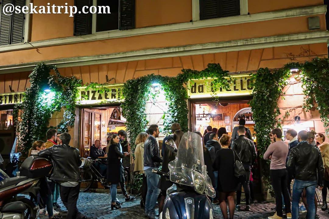 夜のトラステヴェレ(Trastevere)