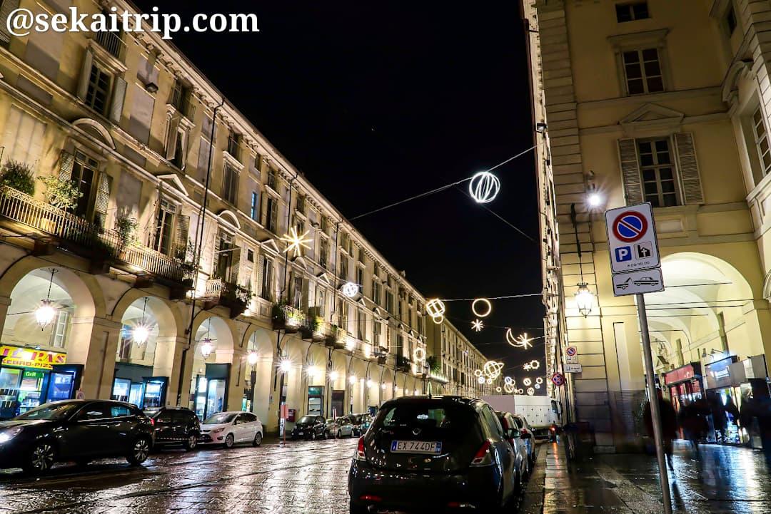 ポー通り(Via Po)の夜景
