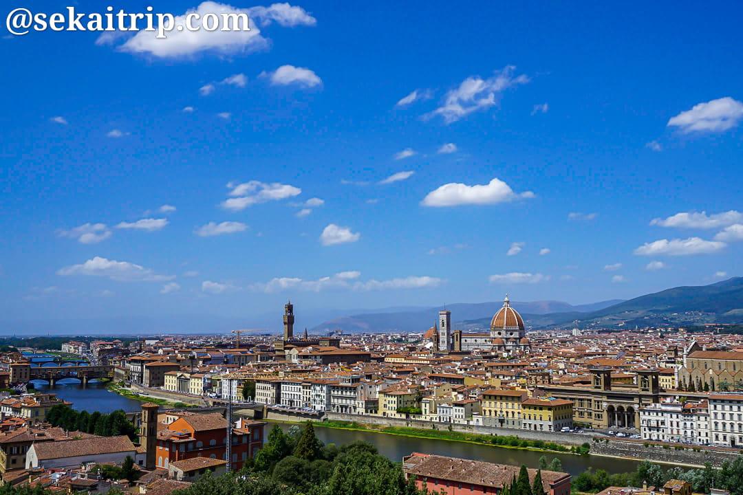 ミケランジェロ広場(Piazzale Michelangelo)から見た景色