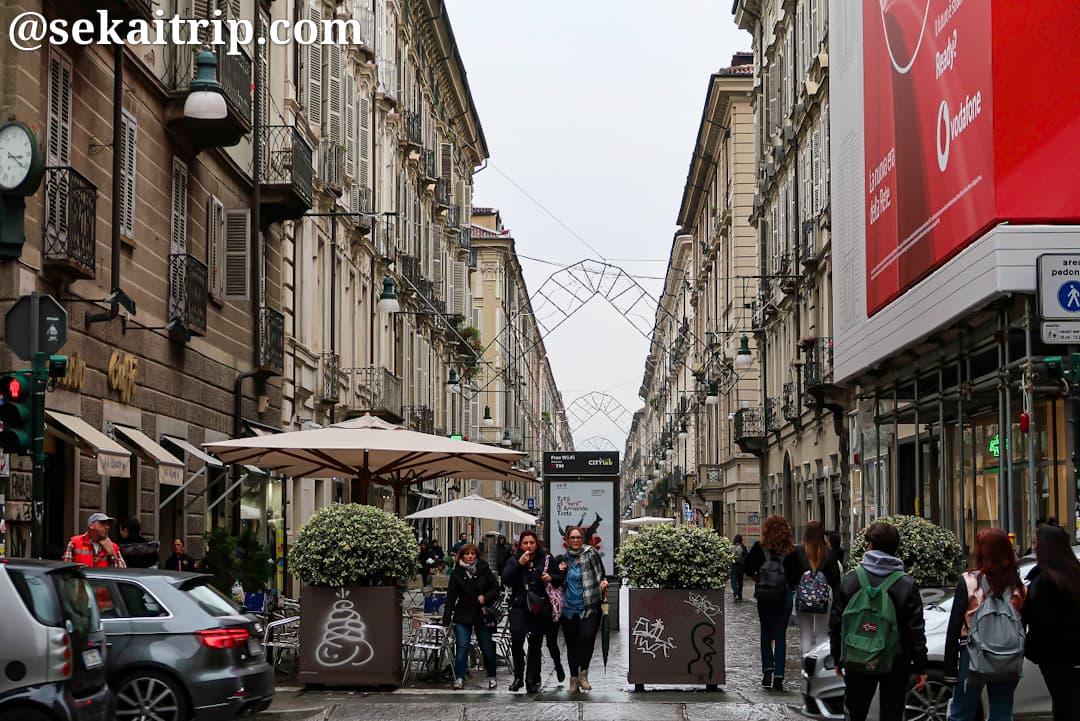 トリノのジュゼッペ・ガリバルディ通り(Via Giuseppe Garibaldi)