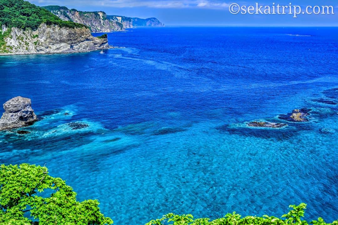黄金岬から見た積丹ブルー