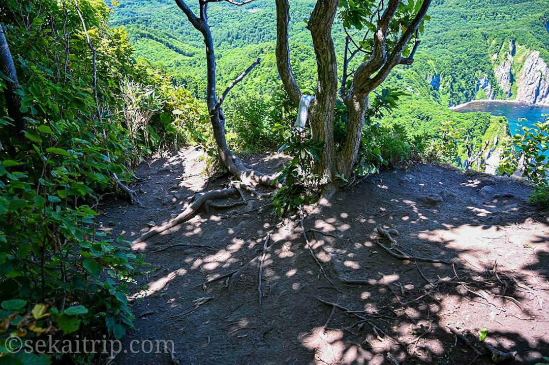 尻場山頂上の撮影ポイント